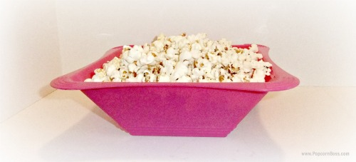 Popcorn In Pink Bowl