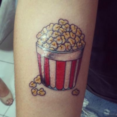 Popcorn bucket tattoo.