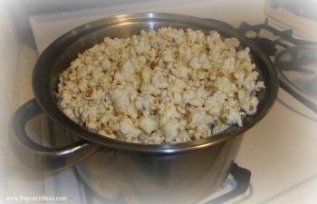 Popped Popcorn In Large Pot