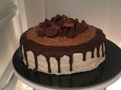 Reeses peanut butter cups cake.
