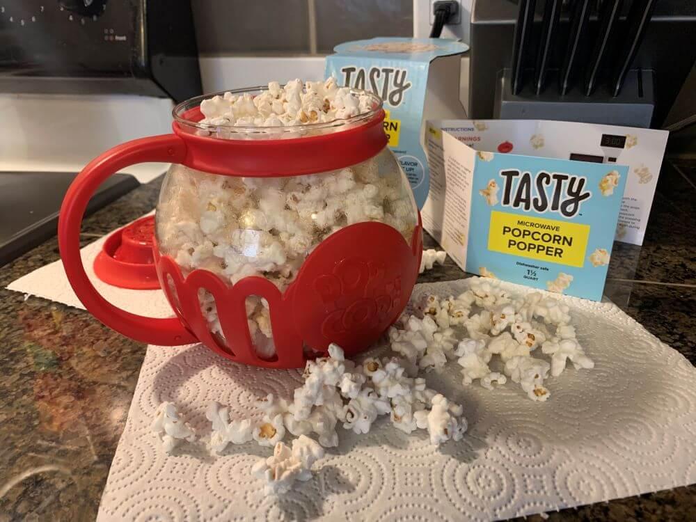Tasty Microwave Popcorn Popper Ecolution Original Micro Pop