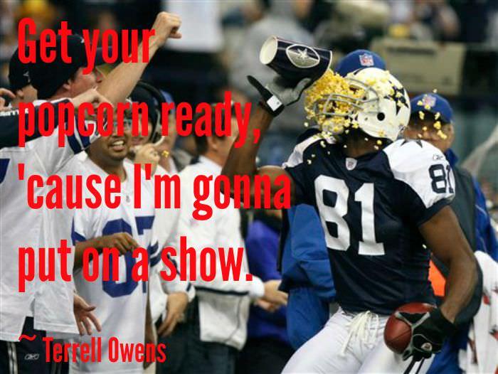 Terrell Owens Popcorn Touchdown Celebration