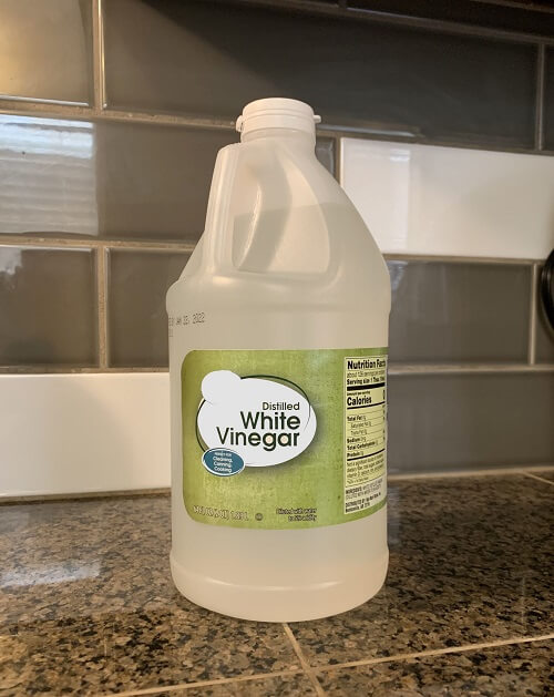 Distilled white vinegar is a multi-use product and powerful cleaning chemical.